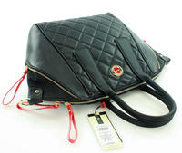 Black Quilted Eco-Leather Ladies Bag