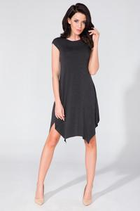 Black Summer Asymetrical Dress