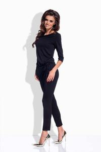 Black Slim Legs Ladies Jumpsuit