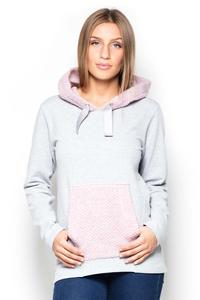 Pink Jumper with Blue Kangoo Pocket