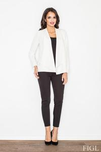 Ecru Office Style Loose Lapels Blazer