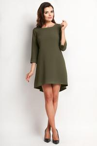 Olive Green Longer Back Double Fold Dress
