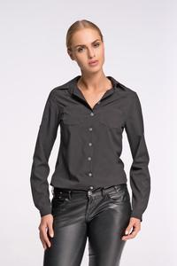 Black Classic Shirt with Double Pockets