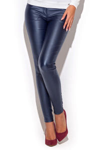 Blue Skinny Fit Pants with Twin Hip Pockets