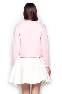 Light Pink Wide Turtle Neck Drop Shoulder Blouse
