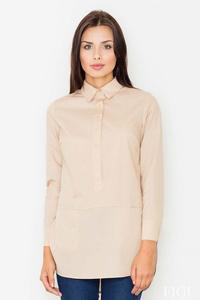 Beige Front Pockets Shirt