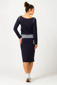 Navy Blue Fitted Sport Style Skirt