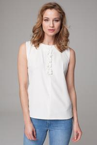 Ecru Sleeveless Summer Blouse