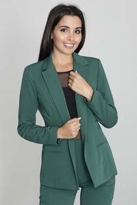 Elegant Green Jacket Stylish Waisted Cut