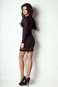 Black Bodyco Dress with Transparent Details
