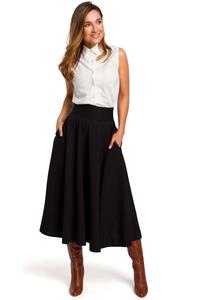 Long Black High Waisted Skirt