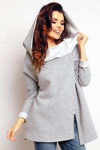 Grey Stylish Big Hood Jacket