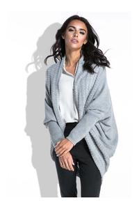 Grey Bat Sleeves Cardigan