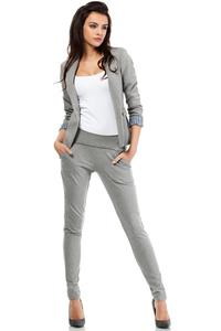 Grey Slim Waist Classic Ladies Blazer
