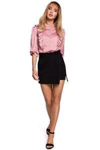 Mini Skirt-Pants Frill (black)
