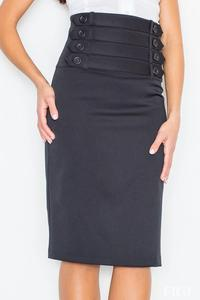 Black Slim Fit Pencil Style High Waist Office Dress