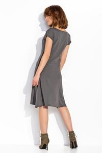 Dark Grey Simple Casual Style Dress