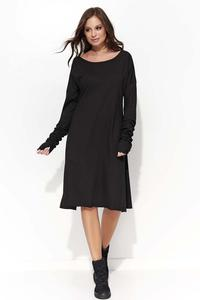 Black Flared Casual Dress