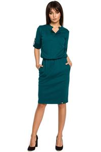 Green  Knee Length Casual Dress