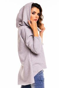 Grey Street Fashion Hoodie Longer Back