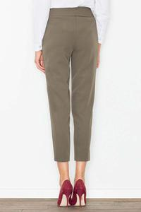 Olive Green High Waist Cigarette Pants