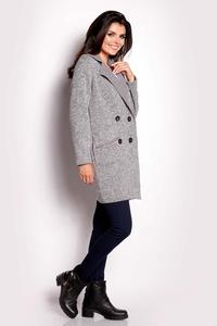 Grey Doublebreasted Fall Coat