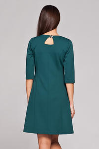 Green High Tailored Executive Skater Dress