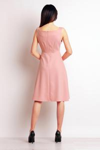 Powder Pink Sleeveless Midi Dress