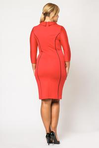 Red Elegant Slimming Dress PLUS SIZE