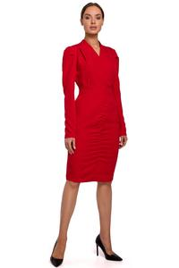 Long Sleeve Pencil Dress (Red)