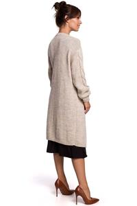 Long Cardigan without Clasp (Beige)