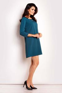 Green Classic Flared Mini Dress