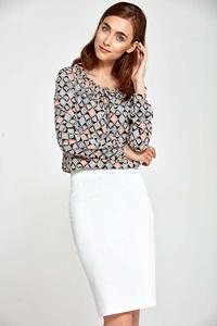 Ecru Classic Pencil Skirt