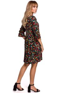 Summer Dress with Flowers (red black)