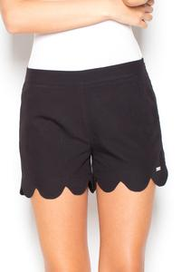 Black Hight Waist Decorative Cut Out Legs Shorts