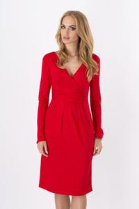 Red Elegant V- Neck Dress