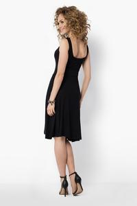 Black Casual Knee Length Summer Dress