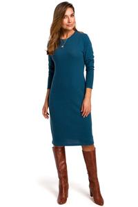 Marine Knitted Straight Above Knee Dress