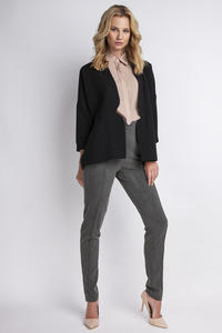 Black Elegant No Buttons Blazer