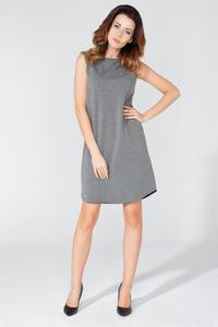 Grey Sleeveless Cut-out Back Dress