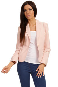 Long Lapels Pink Coat with Single Button Fastening