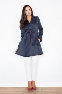 Navy Blue Doublebreasted Elegant Trench Coat