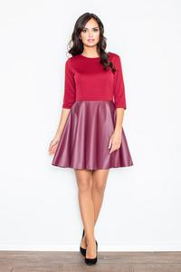 Maroon Miss Delighted Kelly Skater Dress