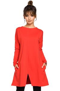Red Flared Casual Tunic
