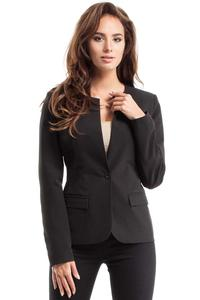 Black One Button Classic Ladies Blazer