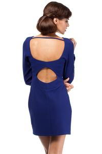 Cornflower Blue Sexy Cut Out Back Mini Dress