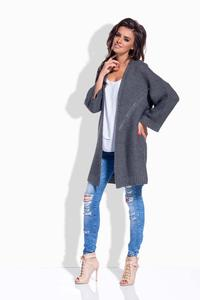 Dark Grey Loose&Long Cardigan