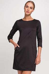 Black Casual Mini Dress with Pockets