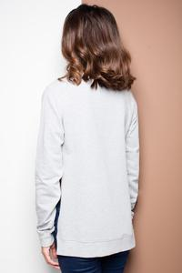 Grey Long Sleeves Cut Sides Jumper