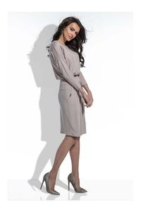 Mocca Casual Dress with Slim Waist